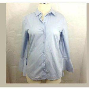 Equipment Button Down Shirt Collar Bell Sleeve
